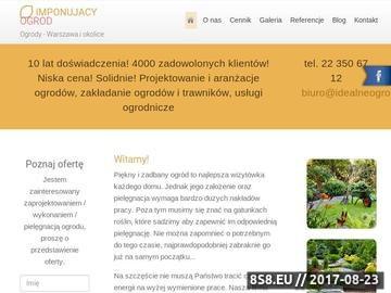 Zrzut strony ImponujacyOgrod.pl-Projektowanie ogrodow,nawadnianie,hurtownia narzędzi