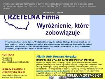 Zrzut strony Urodziny dla dzieci Poznań