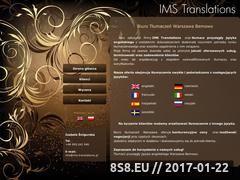Miniaturka domeny www.ims-translations.pl