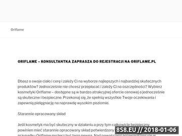 Zrzut strony Konsultantka Oriflame