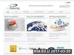 Miniaturka www.infobrokering.com.pl (Bazy danych, spisy firm oraz spisy instytucji)
