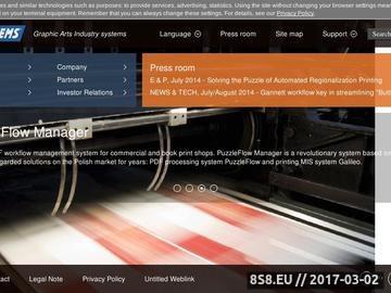 Zrzut strony System zarządzania dla drukarni