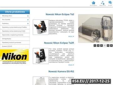 Zrzut strony Rejestratory i mikroskopy