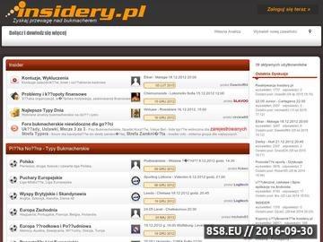 Zrzut strony Insidery.pl - Najlepsze Forum Bukmacherskie