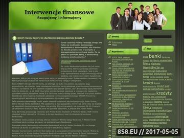 Zrzut strony Interwencja finansowa