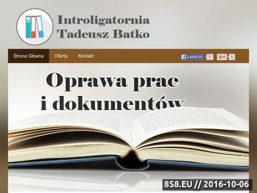 Zrzut strony Oprawianie książek - Introligatornia Batko