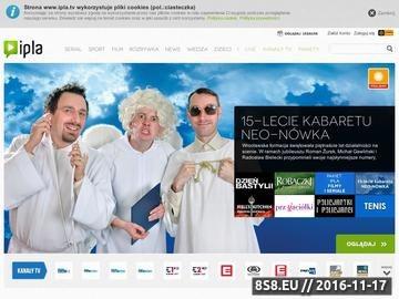 Zrzut strony Ipla - telewizja na życznie VOD