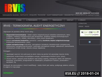 Zrzut strony Termowizja - diagnostyka budowli, instalacji i urządzeń; Usługi informatyczne