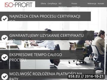 Zrzut strony Certyfikat ISO