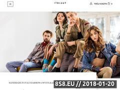 Miniaturka italogy.pl (Odzież włoska - sklep internetowy ITALogY)