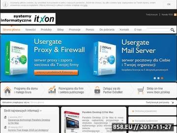 Zrzut strony Systemy Informatyczne ITXON - Kaspersky, Acronis, Parallels, Devicelock