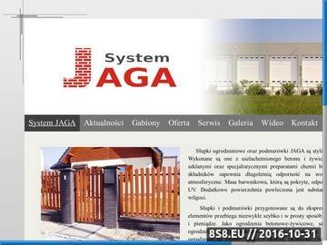 Zrzut strony Ogrodzenia betonowe, klinkierowe - JAGA SYSTEM