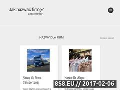 Miniaturka Tworzenie nazw dla firm - baza wiedzy (jak-nazwac-firme.pl)