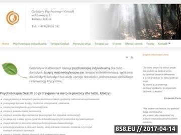 Zrzut strony Gabinet Psychoterapii Gestalt - Tomasz Jaksik