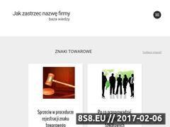 Miniaturka jakzastrzecnazwefirmy.pl (Baza wiedzy - ochrona marki)