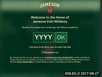 Zrzut strony Jameson - najlepsza whiskey