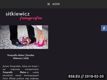 Zrzut strony Fotograf ślubny Jarosław Sitkiewicz