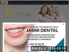 Miniaturka domeny www.jasmidental.pl