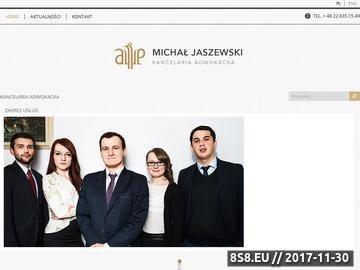 Zrzut strony Kancelaria Adwokacka Michała Jaszewskiego