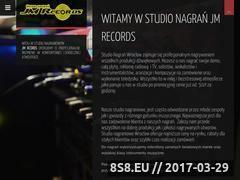 Miniaturka jmrecords.pl (Nagrywanie wokalistów oraz zespołów muzycznych)