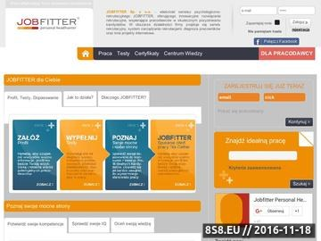 Zrzut strony Portal Rekrutacyjno-Psychologiczny Jobfitter.pl