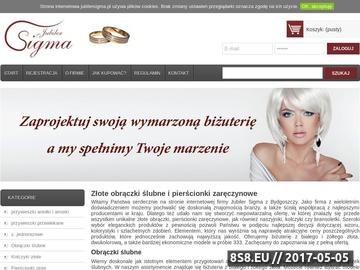 Zrzut strony Sigma - najlepsza biżuteria w sieci