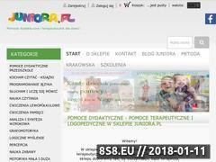 Miniaturka juniora.pl (Pomoce dydaktyczne, terapeutyczne i logopedyczne)