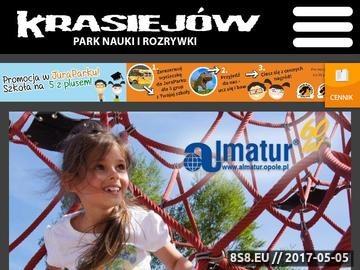 Zrzut strony Dinozaury, Park dinozaurów w Krasiejowie