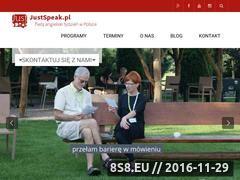Miniaturka www.justspeak.pl (Intensywny kurs języka angielskiego - JustSpeak)