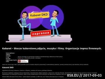 Zrzut strony Kabaret DKD - skecze kabaretowe, muzyka i filmy. Organizator imprez firmowych.