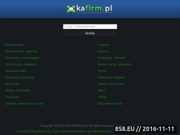 Zrzut strony Bezpłatny katalog firm Kafirm.pl