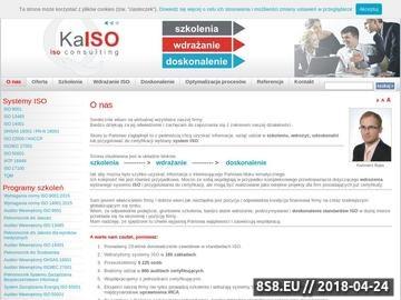 Zrzut strony O nas - KaISO - Szkolenia i wdrażanie systemów ISO
