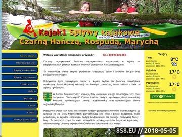 Zrzut strony Spływy kajakowe Czarna Hańcza, Rospuda, Marycha