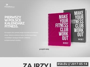 Zrzut strony Szkolenia fitness