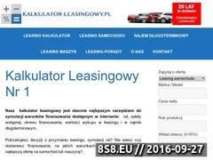 Miniaturka Kalkulator leasingu samochodów i maszyn nr 1 (www.kalkulator-leasingowy.pl)