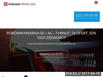Zrzut strony Ubezpieczenia Komunikacyjne OC AC