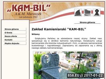 Zrzut strony Zakład Kamieniarski KAM-BIL A.K.M. Maroszek, Nysa - kamieniarstwo