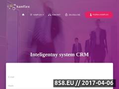 Miniaturka kamflex.pl (System CRM do obsługi klientów i firmy)