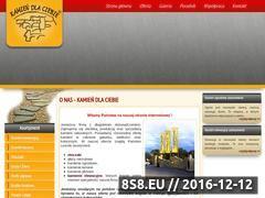 Miniaturka domeny www.kamiendlaciebie.pl