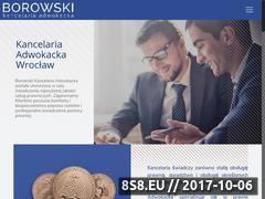 Miniaturka kancelaria-borowski.pl (Obsługa prawna firm Wrocław)