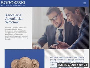 Zrzut strony Obsługa prawna firm Wrocław