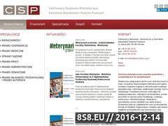 Miniaturka domeny www.kancelaria-csp.pl