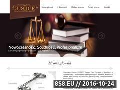Miniaturka domeny www.kancelaria-justice.pl