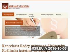 Miniaturka domeny kancelaria-kozlinska.pl