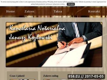 Zrzut strony Notariusze w Łodzi