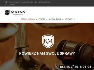 Zrzut strony Prawnik Katowice