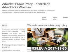Miniaturka kancelaria-prawa-pracy.wroclaw.pl (Adwokat Wrocław - prawo pracy)