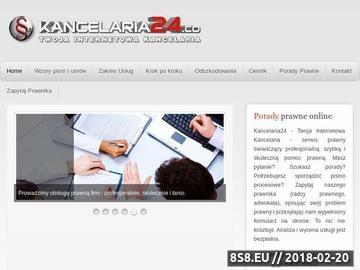 Zrzut strony KANCELARIA24, Porady Prawne Przez Internet