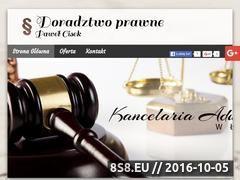 Miniaturka domeny www.kancelariaadwokackalancut.pl