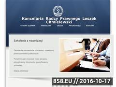 Miniaturka domeny www.kancelariachmielewski.pl